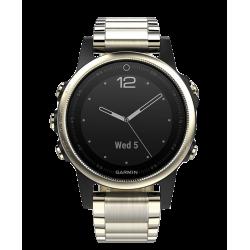 Спортивные часы FENIX 5S SAPPHIRE золотистые с металлическим браслетом